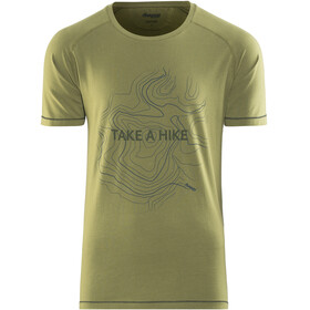 Bergans M's Take a Hike Tee Khaki Green/Seaweed/Dark Steel Blue